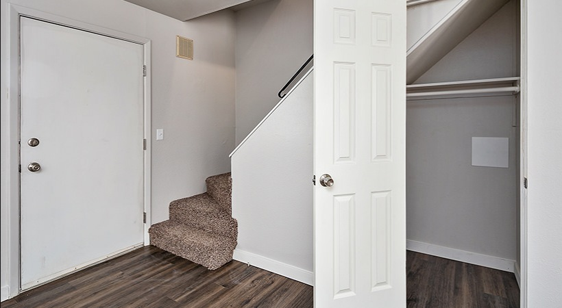 Renovated Townhome - Stairway and Storage Closet