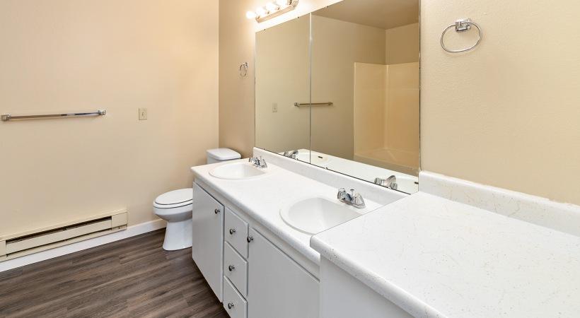 One Bedroom - Bathroom Dual Sinks
