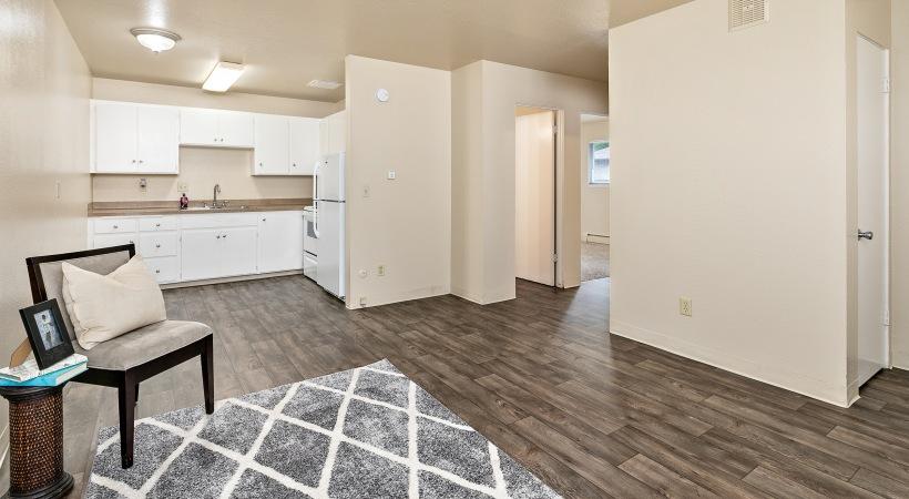 Two Bedroom, One Bathroom - Open Floorplan