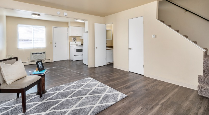 Two Bedroom, One and a Half Bathroom - Open Floorplan