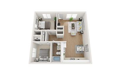 Floorplan 2x1