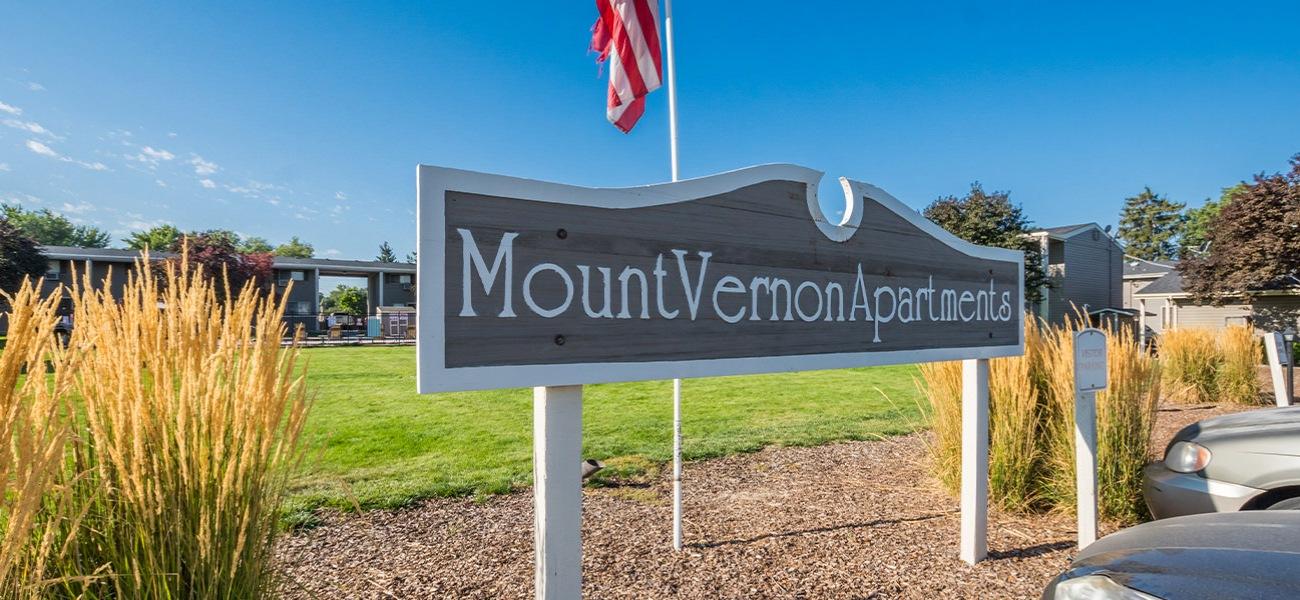 Mount Vernon Entry Sign